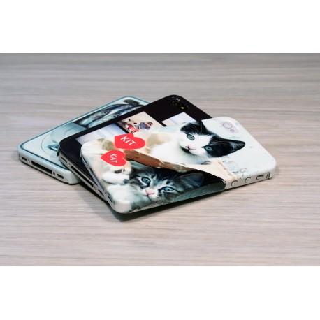 Coque rigide iPhone 4/4s personnalisée avec côtés imprimés