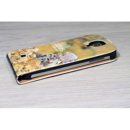 Etui Galaxy S4 personnalisé à clapet en cuir