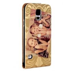 Etui Galaxy S5 mini personnalisé à clapet en cuir