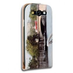 Etui Galaxy S3 personnalisé à clapet en cuir