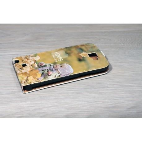 Etui Galaxy Note 2 personnalisé à clapet en cuir