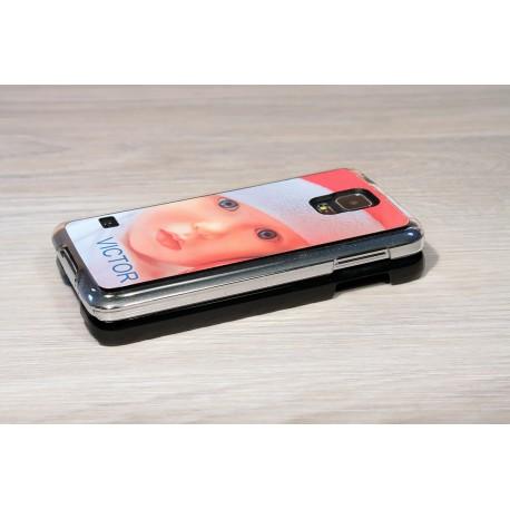 Coque Galaxy S5 personnalisée avec côtés rigides unis