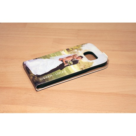 Etui Galaxy S6 personnalisé à clapet en cuir