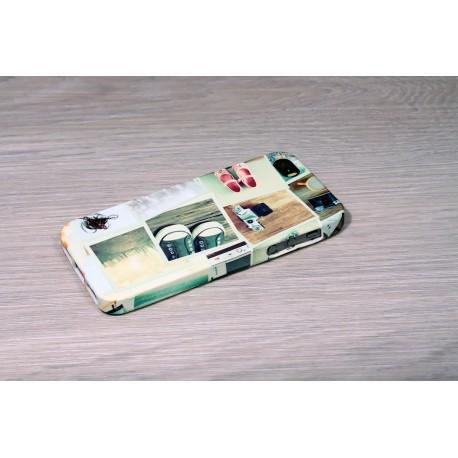 Coque silicone iPhone 5/5s personnalisée avec côtés imprimés