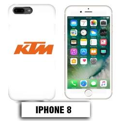 Coque iphone 8 moto KTM orange