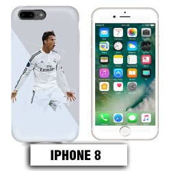 Coque iphone 8 Foot Ronaldo Madrid