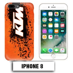 Coque iphone 8 moto cross KTM sport