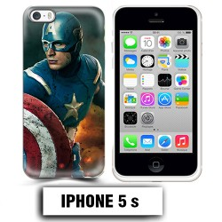 Coque iphone 5 5S Captain Super America Comics