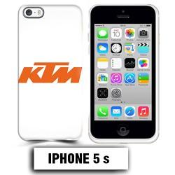 Coque iphone 5 5S moto KTM orange