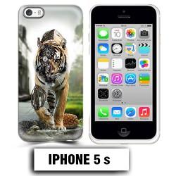 Coque iphone 5 5S tigre robot