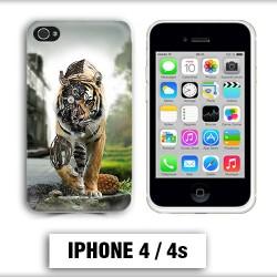 Coque iphone 4 tigre robot