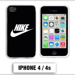 Coque iphone 4 logo Nike noir