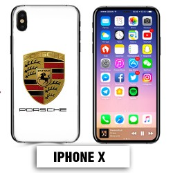 Coque iphone X logo Porsche