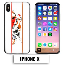 Coque iphone X moto course Repsol