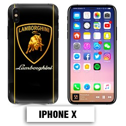 Coque iphone X logo Lamborghini