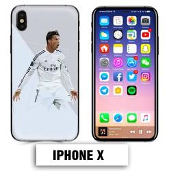 Coque iphone X Foot Ronaldo Madrid