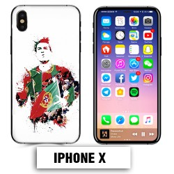 Coque iphone X Foot Ronaldo Madrid CR7