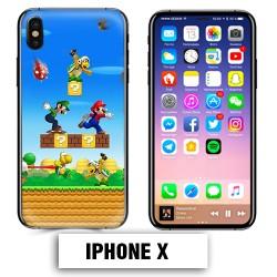 Coque iphone X Mario Bross jeu