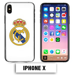 Coque iphone X foot REAL MADRID