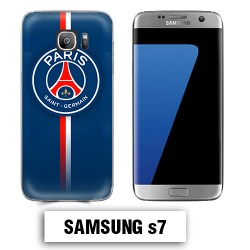 Coque Samsung S7 PSG Bleu Rouge