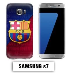 Coque Samsung S7 logo FCB Barcelone Messi