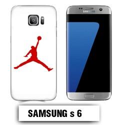 Coque Samsung S6 Air Jordan Rouge
