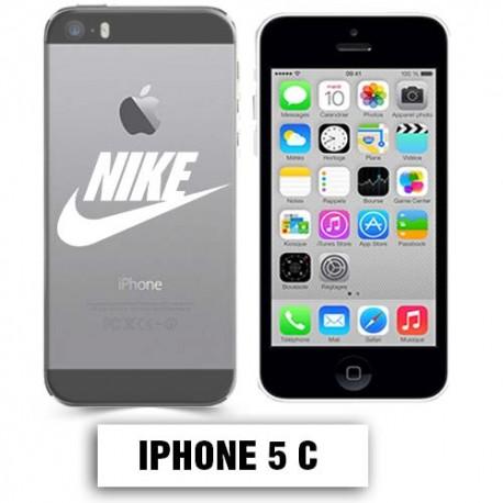 coque transparente iphone 5c nike blanc