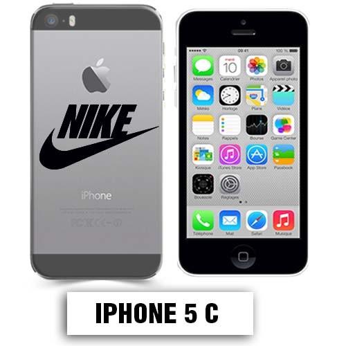 coque transparente iphone 5c nike noir