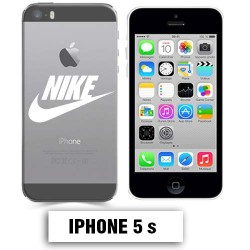 Coque transparente Iphone 5 5S Nike blanc