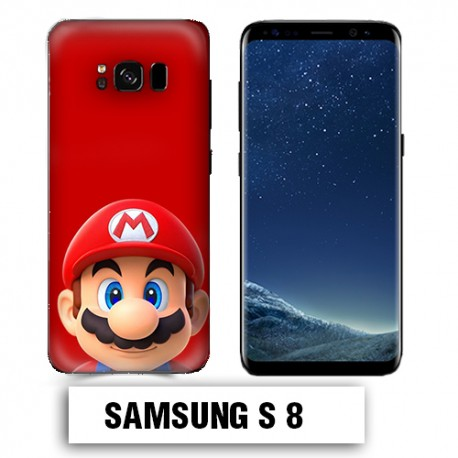 Coque Samsung S8 Mario Rouge