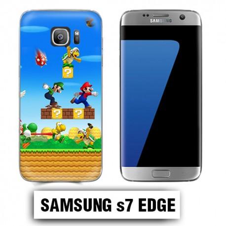 Coque Samsung S7 Edge Mario Bross jeu
