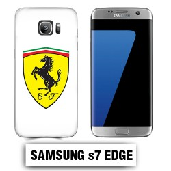 Coque Samsung S7 Edge Logo Ferrari Scuderia