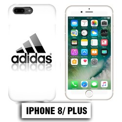 Coque iphone 8 PLUS Adidas Blanc