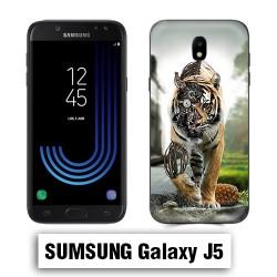Coque Samsung J3 animal tigre robot