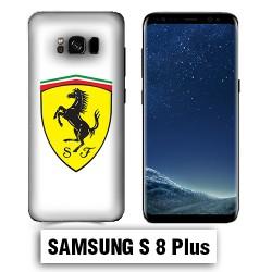 Coque Samsung S8 Plus Logo Ferrari Blanc