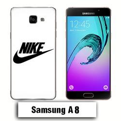 Coque Samsung A8 Nike Blanc