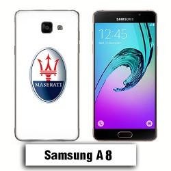 Coque Samsung A8 logo Maserati