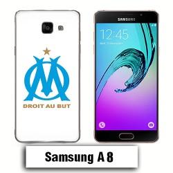 Coque Samsung A8 OM droit au but Olympique Marseille