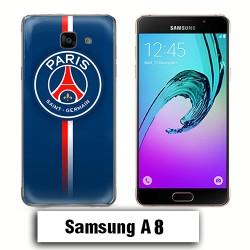 Coque Samsung A8 PSG Bleu Rouge