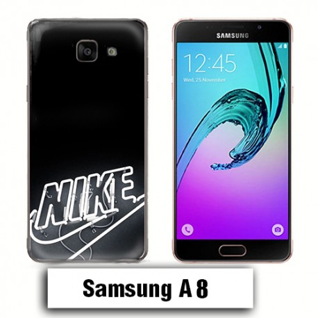 on feet images of delicate colors uk availability Coque Samsung A8 2018 logo Nike néon - Lakokine