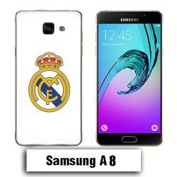 Coque Samsung A8 Captain Logo Real Madrid foot