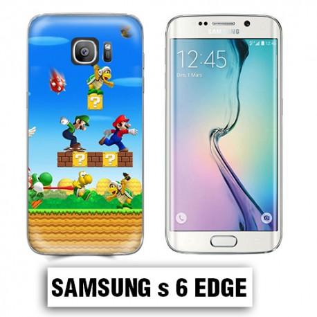 Coque Samsung S6 Edge Mario Bross jeu