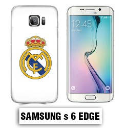 Coque Samsung S6 Edge foot REAL MADRID