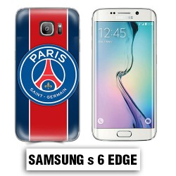 Coque Samsung S6 Edge Foot PSG logo club