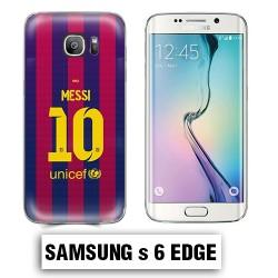 Coque Samsung S6 Edge Foot FCB Barcelone Messi