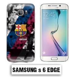 Coque Samsung S6 Edge Foot FCB Barcelonne Messi