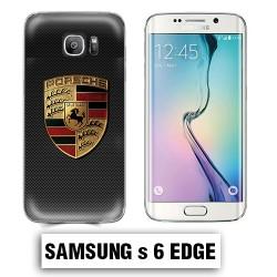 Coque Samsung S6 Edge Porsche carbone