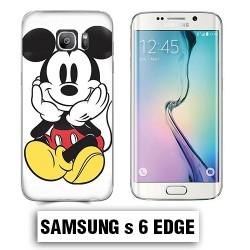 Coque Samsung S6 Edge Mickey couleur