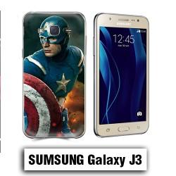Coque Samsung J3 2016 Capitaine America avengers