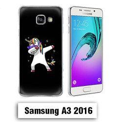 Coque Samsung A3 2016 Licorne DAP Noire